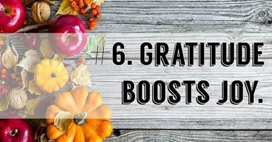 Reasons to give thanks